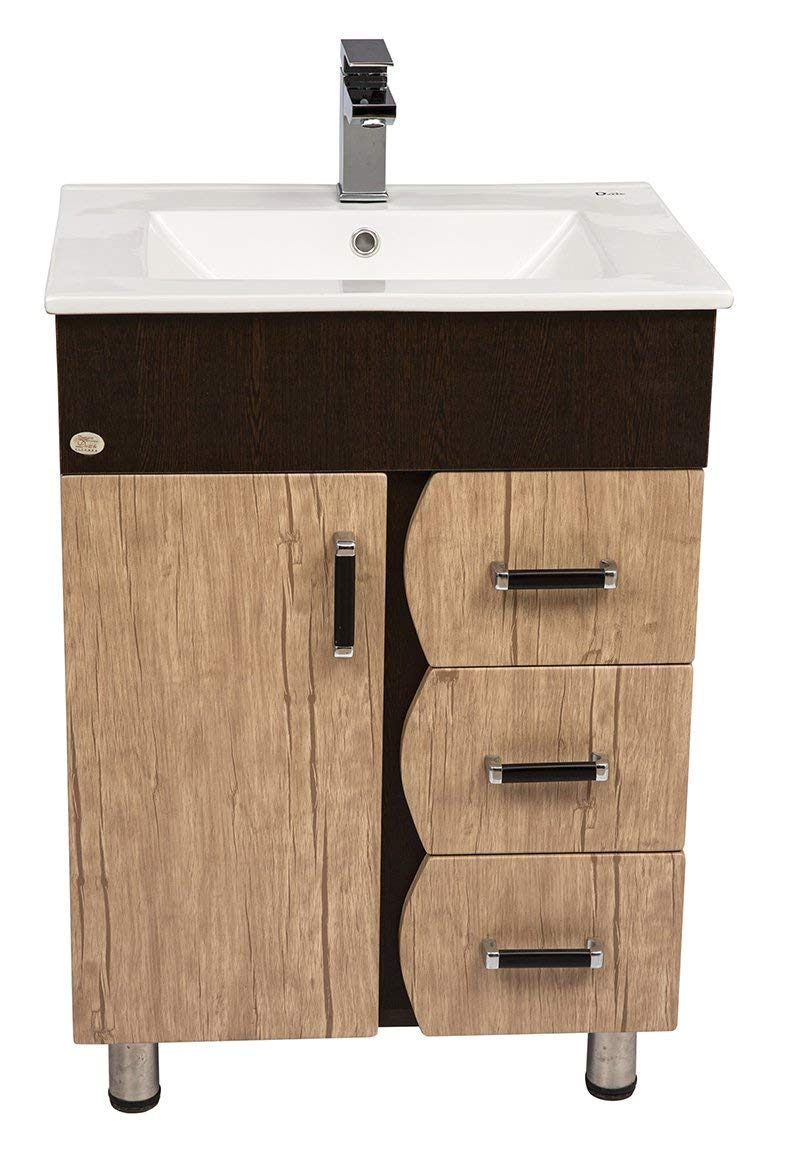 pretty nice 49409 eb131 Dazzle Kitchen Modular Bwr Plywood Vanity Washbasin Cabinet(Brown White)
